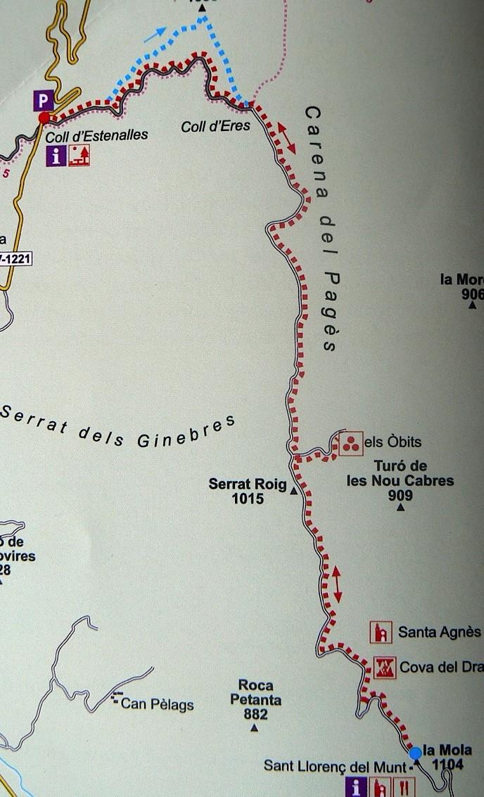 Ruta Coll Estenalles - La Mola