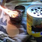 Llauna de foc i fogó rodamons